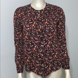 Maeve Anthropology floral long sleeve blouse